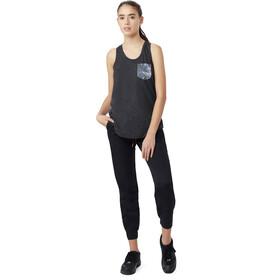 tentree Palmy Camiseta sin mangas con bolsillo con sobreimpresión Mujer, meteorite black/palmy meteorite